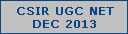 csir ugc net dec 2013