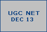 ugc net dec 2013