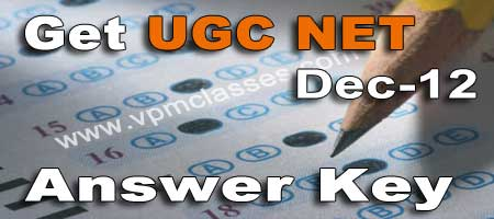 get ugc net dec_12 answer key today