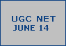 ugc net june 2014