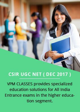 Correspondence Courses and Classes | IIT JAM | UGC NET | GATE | VPM